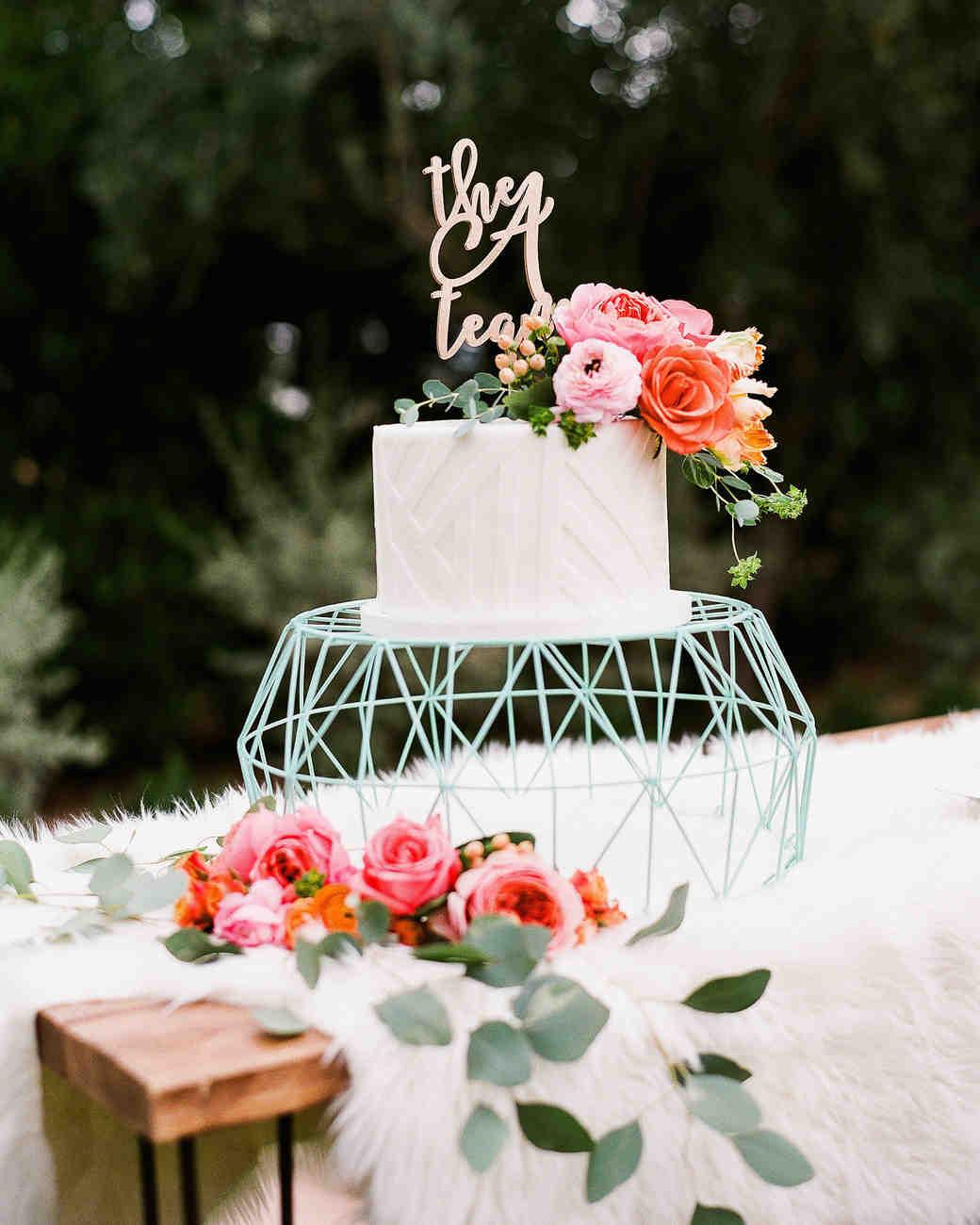 Geometric Wedding Cake Stand