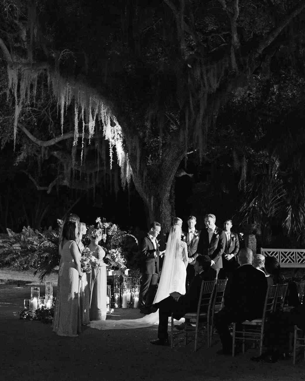 brette patrick wedding ceremony evening
