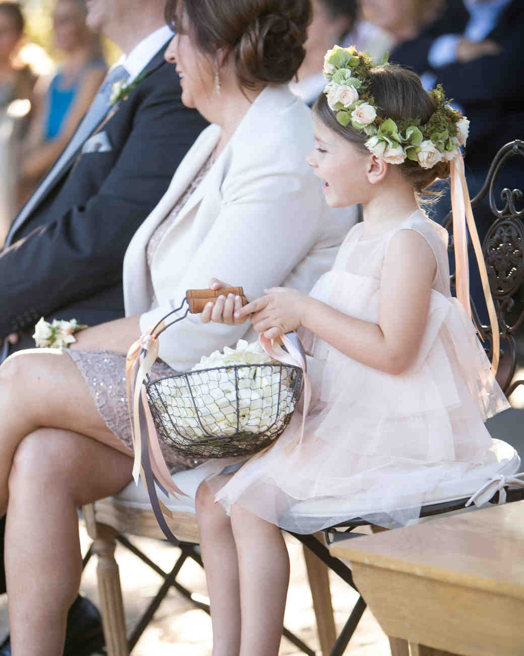 Ribbon Flower Girl Crown