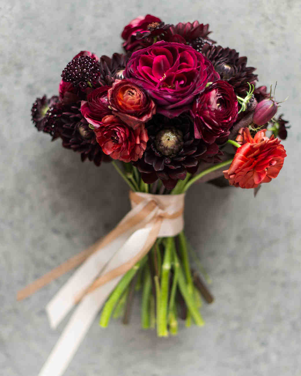 Small Purple and Red Wedding Bouquet