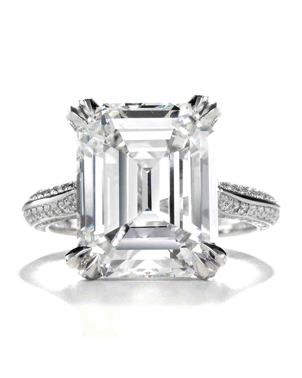 emerald cut diamond engagement rings emerald wedding rings