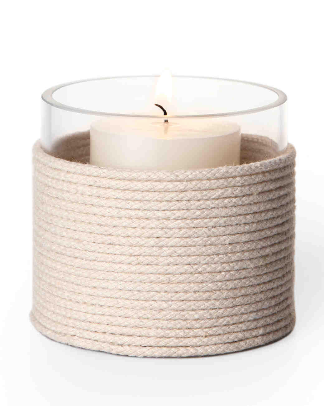 Candle Wrapped in Rope
