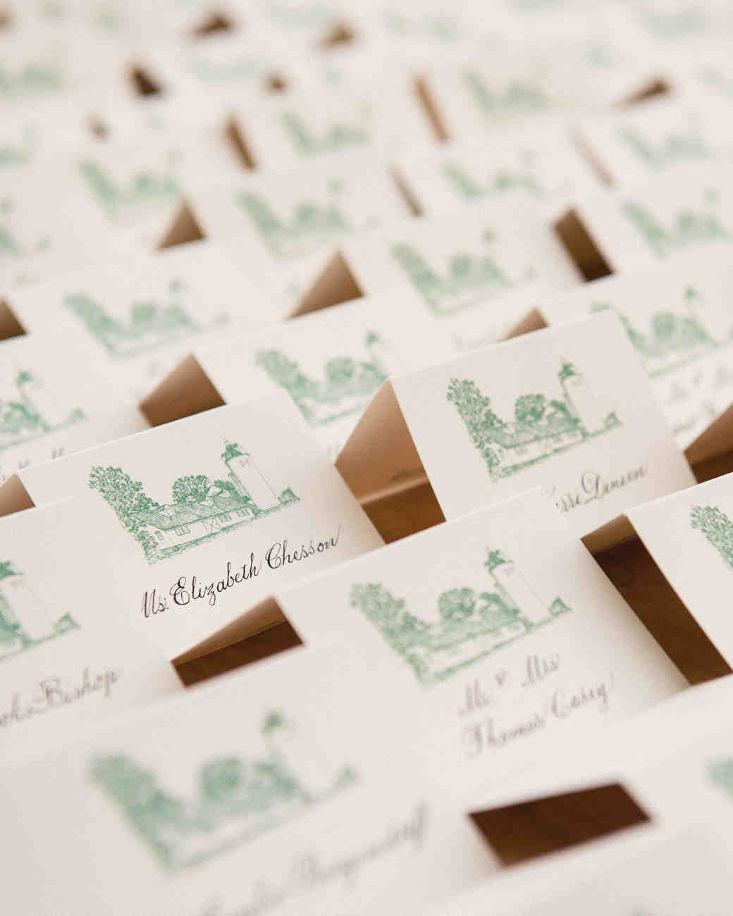 25 Ideas For The Prettiest Calligraphed Escort Cards