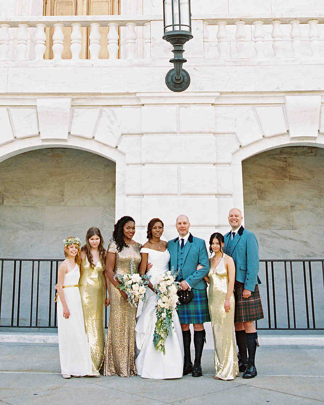 meki ian wedding michigan bridal party