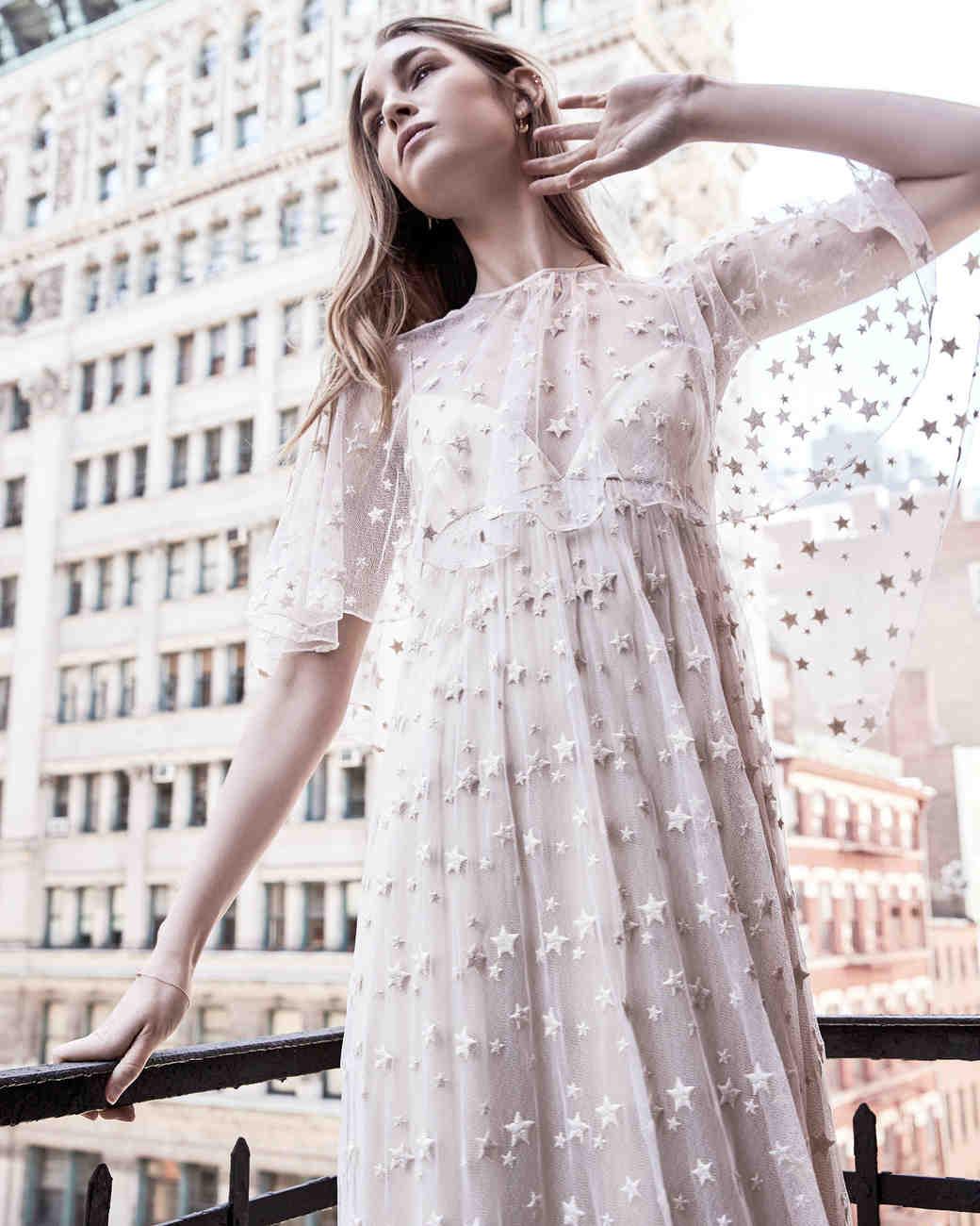 savannah miller star detail tulle overlay spring 2018 wedding dress