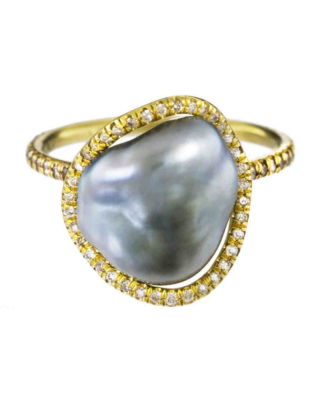 Savannah Stranger Pearl Engagement Ring