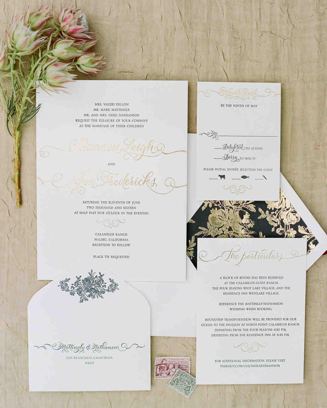 shannon jon wedding stationery