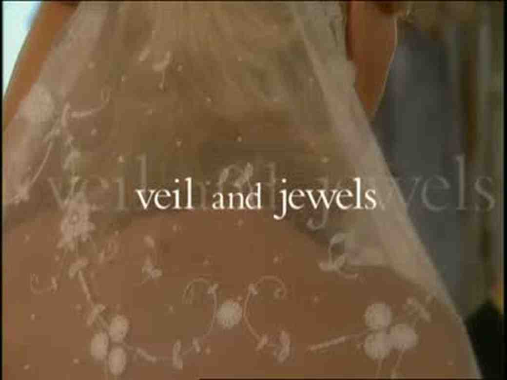 The Final Touch of Veil and Jewels for a Wedding