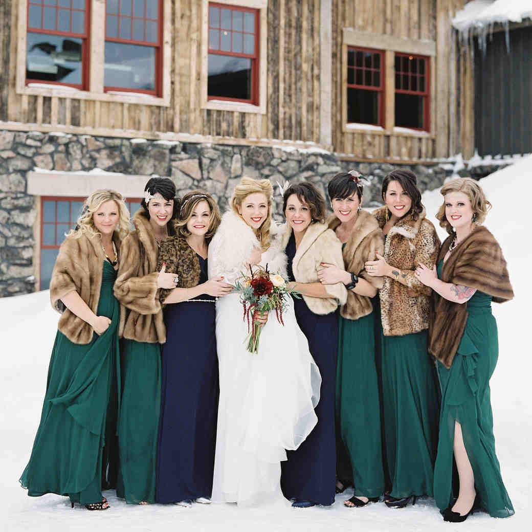 Cozy-Chic Fur Accessories for Winter Brides