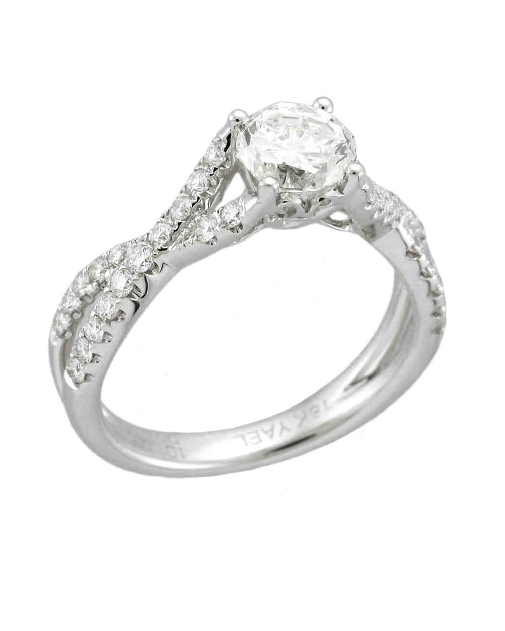 Yael Designs White Gold Engagement Ring