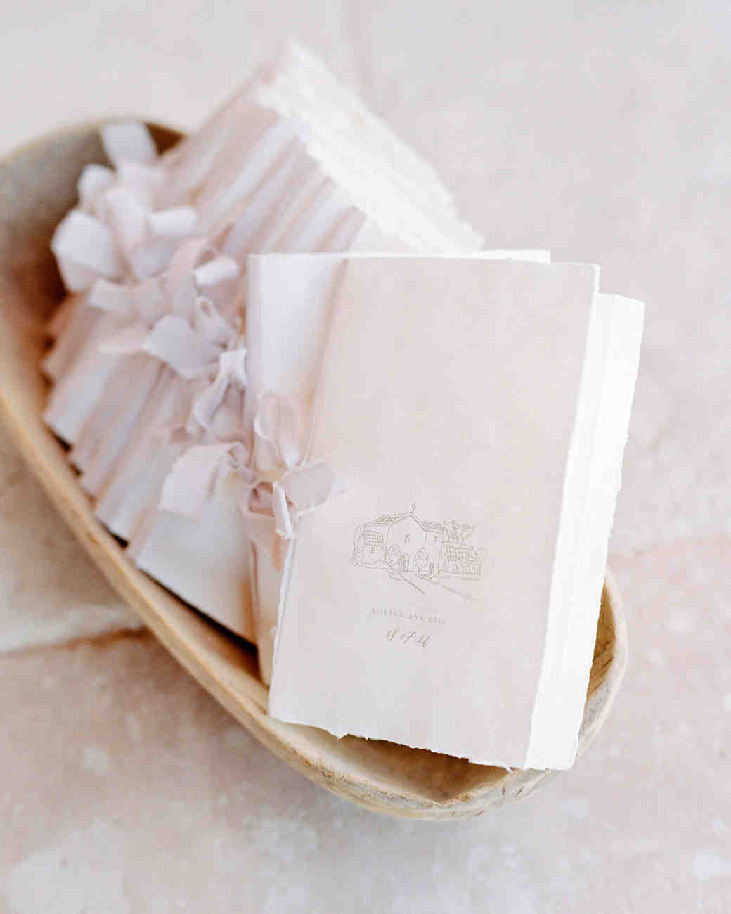 Light Pink Wedding Program