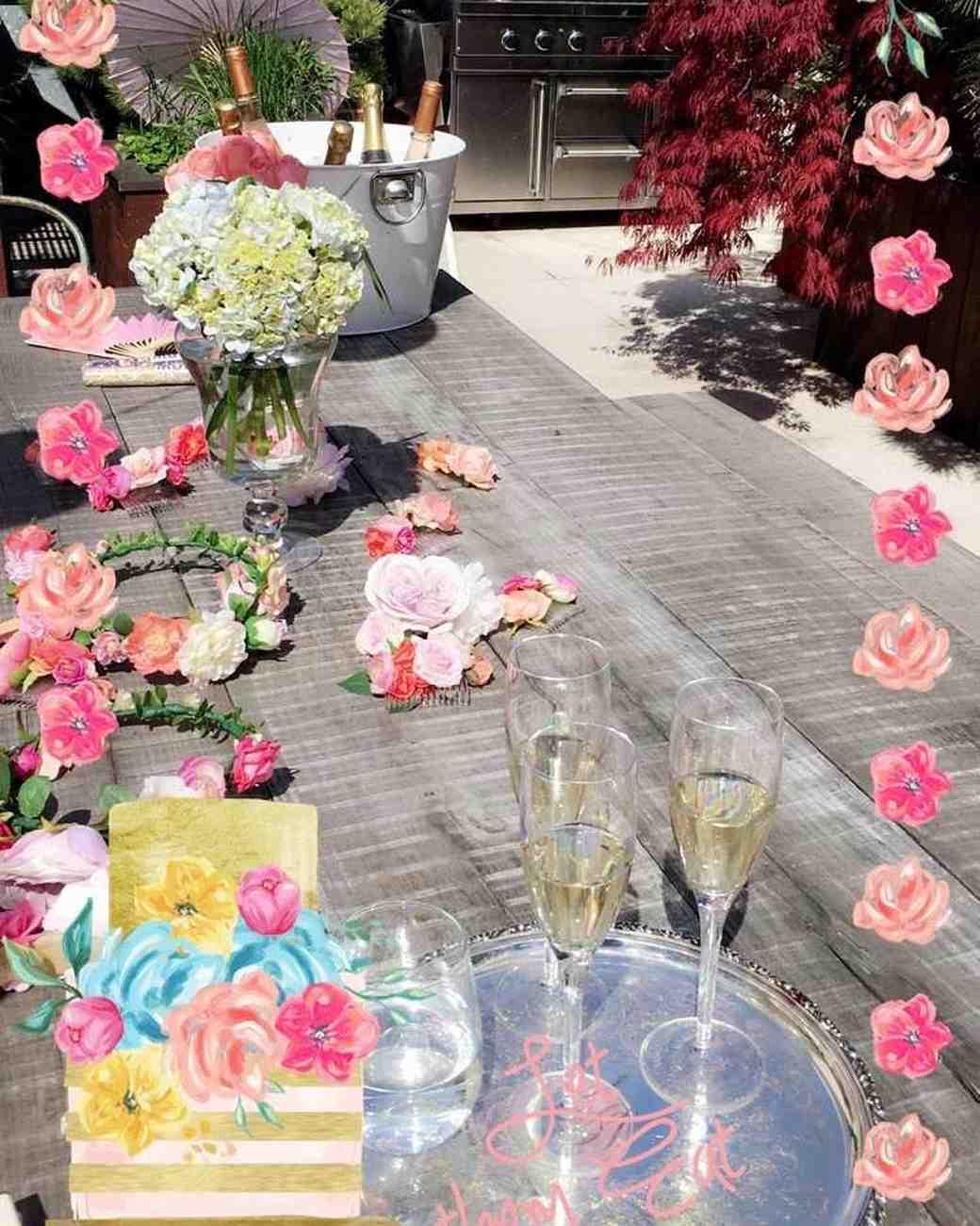 Annie Atkinson's Custom Flower-Filled Bridal Shower Snapchat Filter