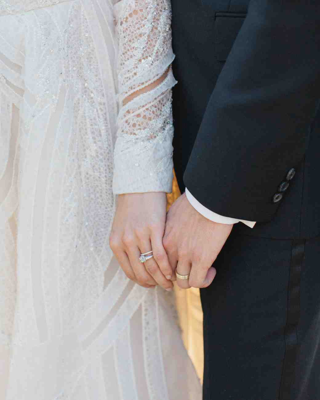 wedding couple hands