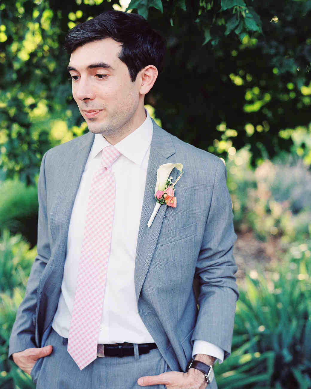 suit, tie, gingham coat jacket