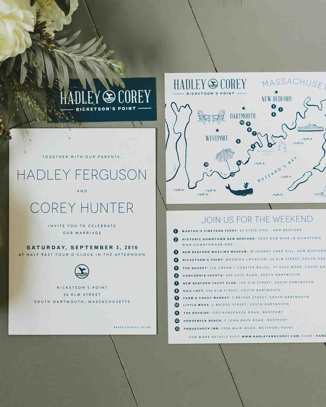 hadley corey wedding stationery