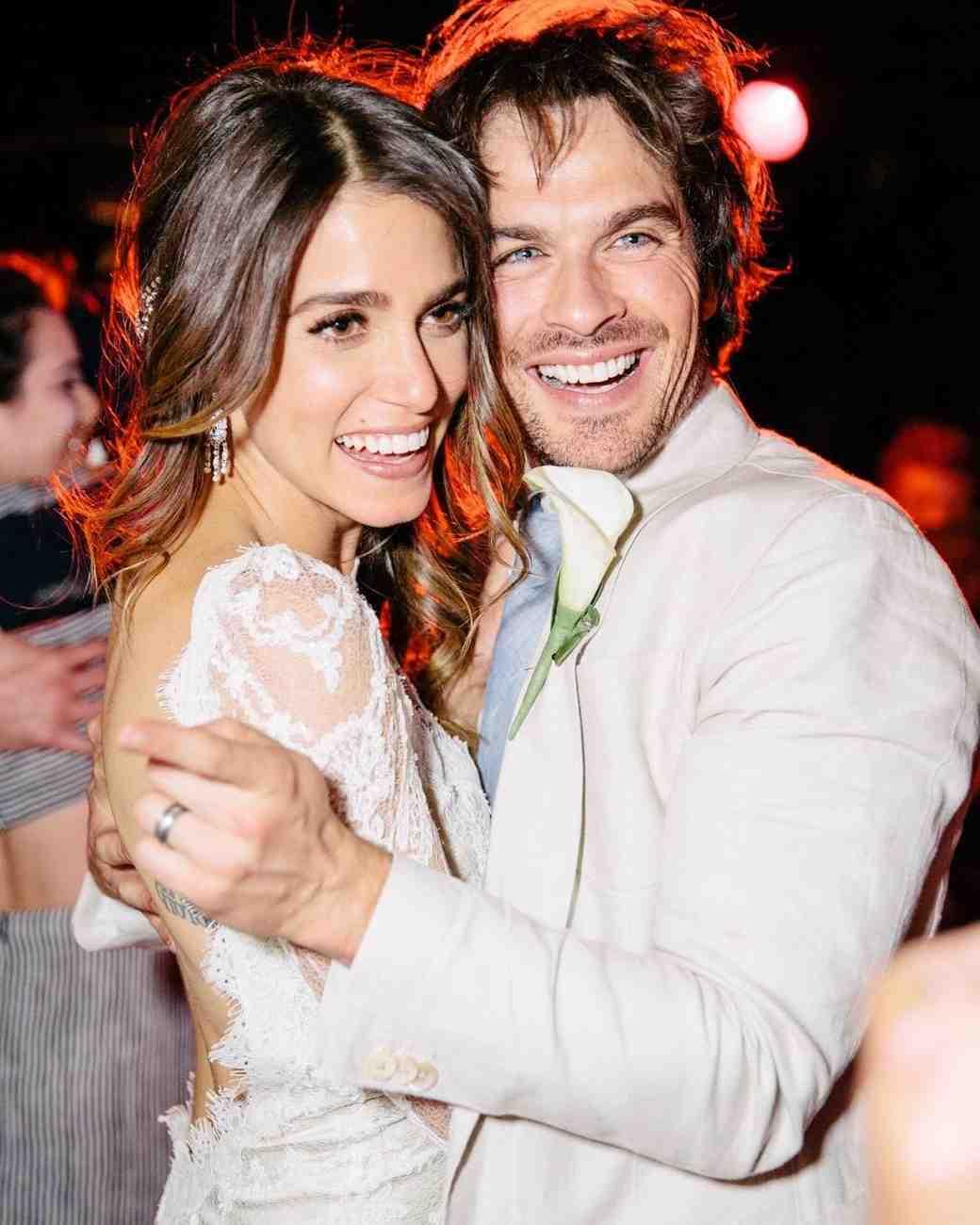 Nikki Reed and Ian Somerhalder on Their Wedding Day