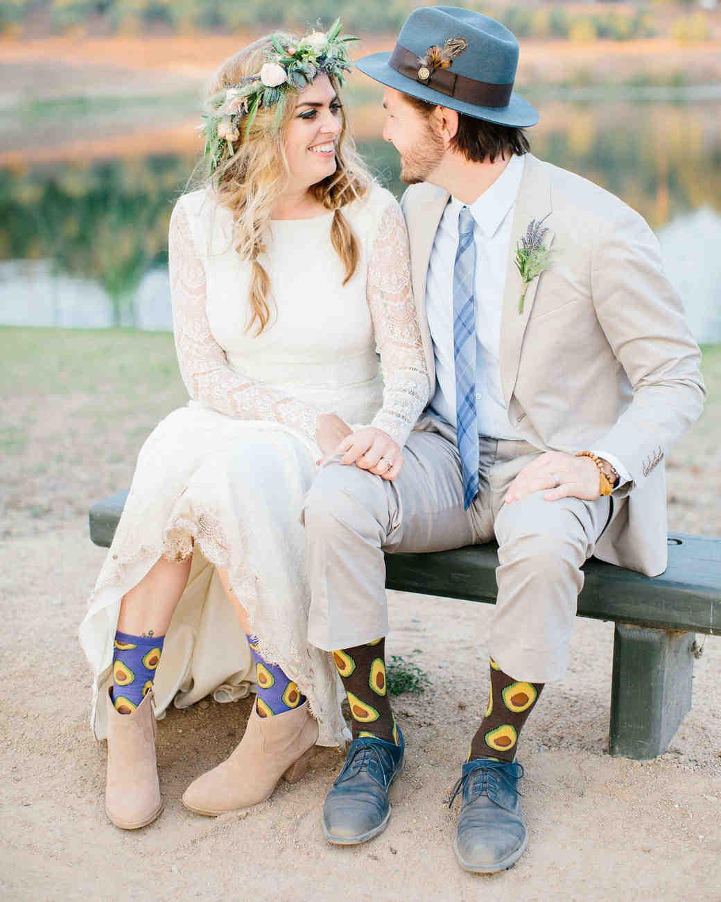 jackie dave wedding couple socks