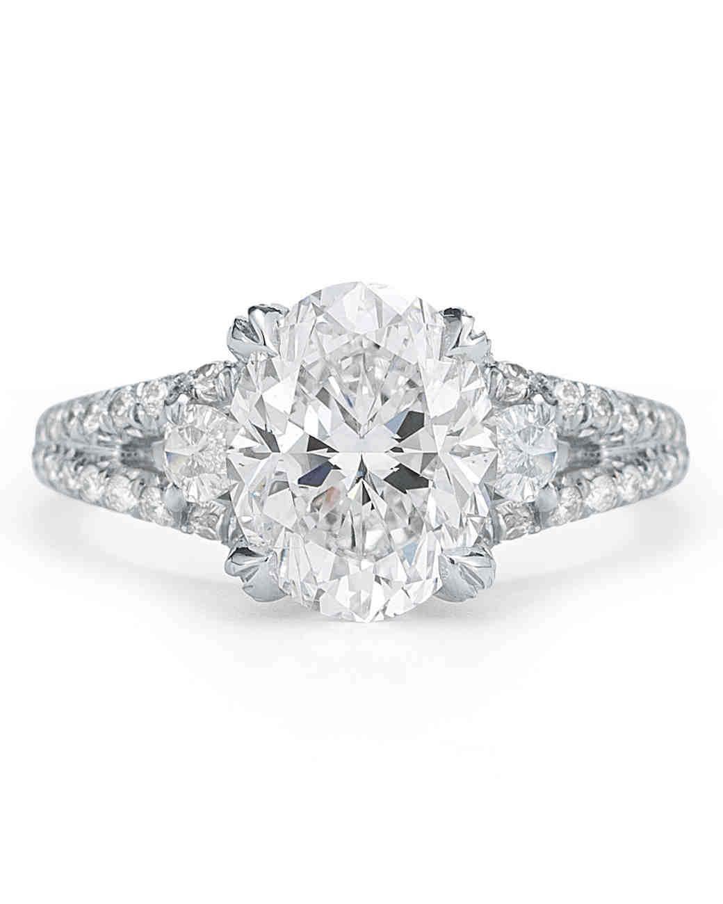 McTeigue and McClelland Oval Engagement Ring