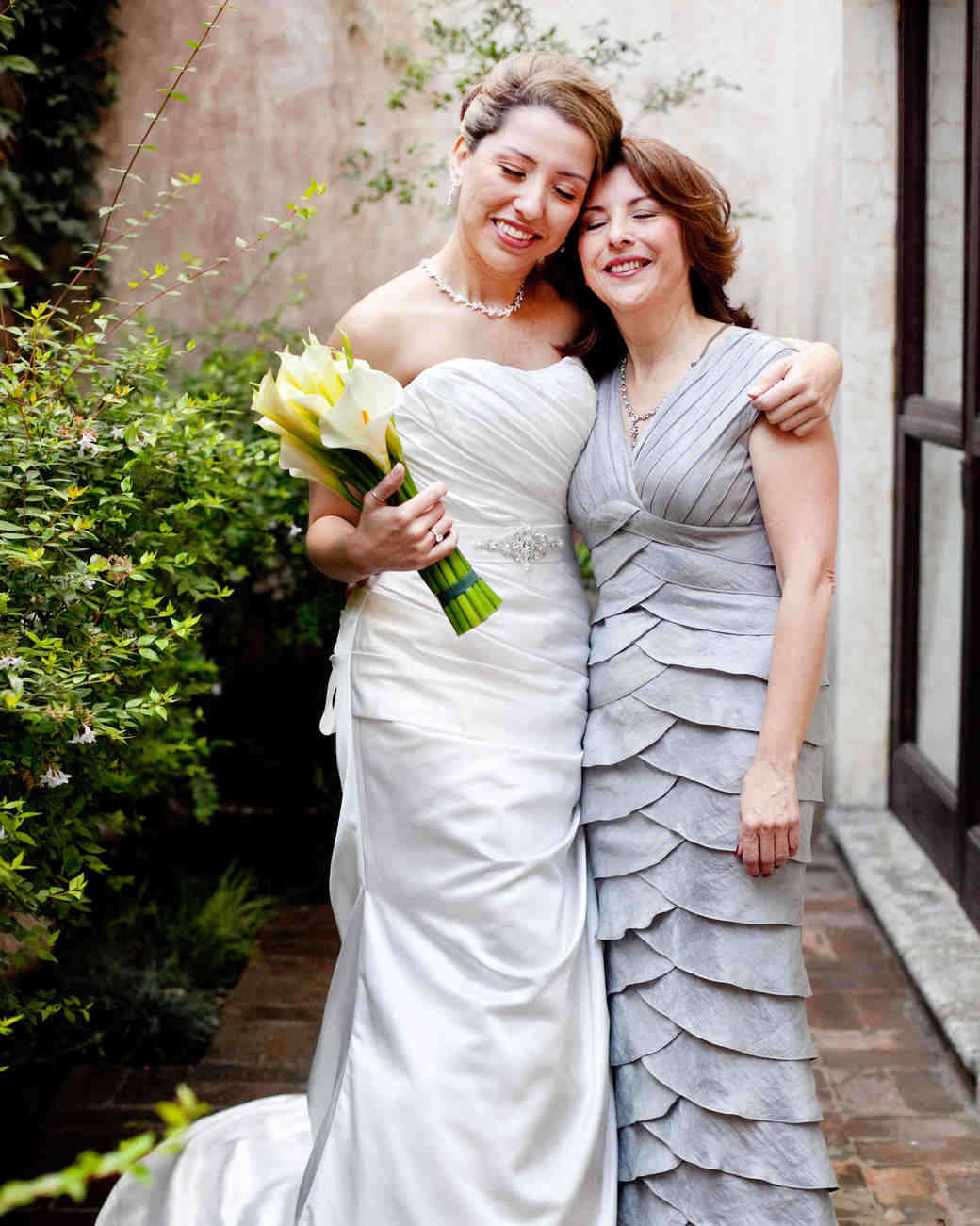 A Bride Embracing Her Mother