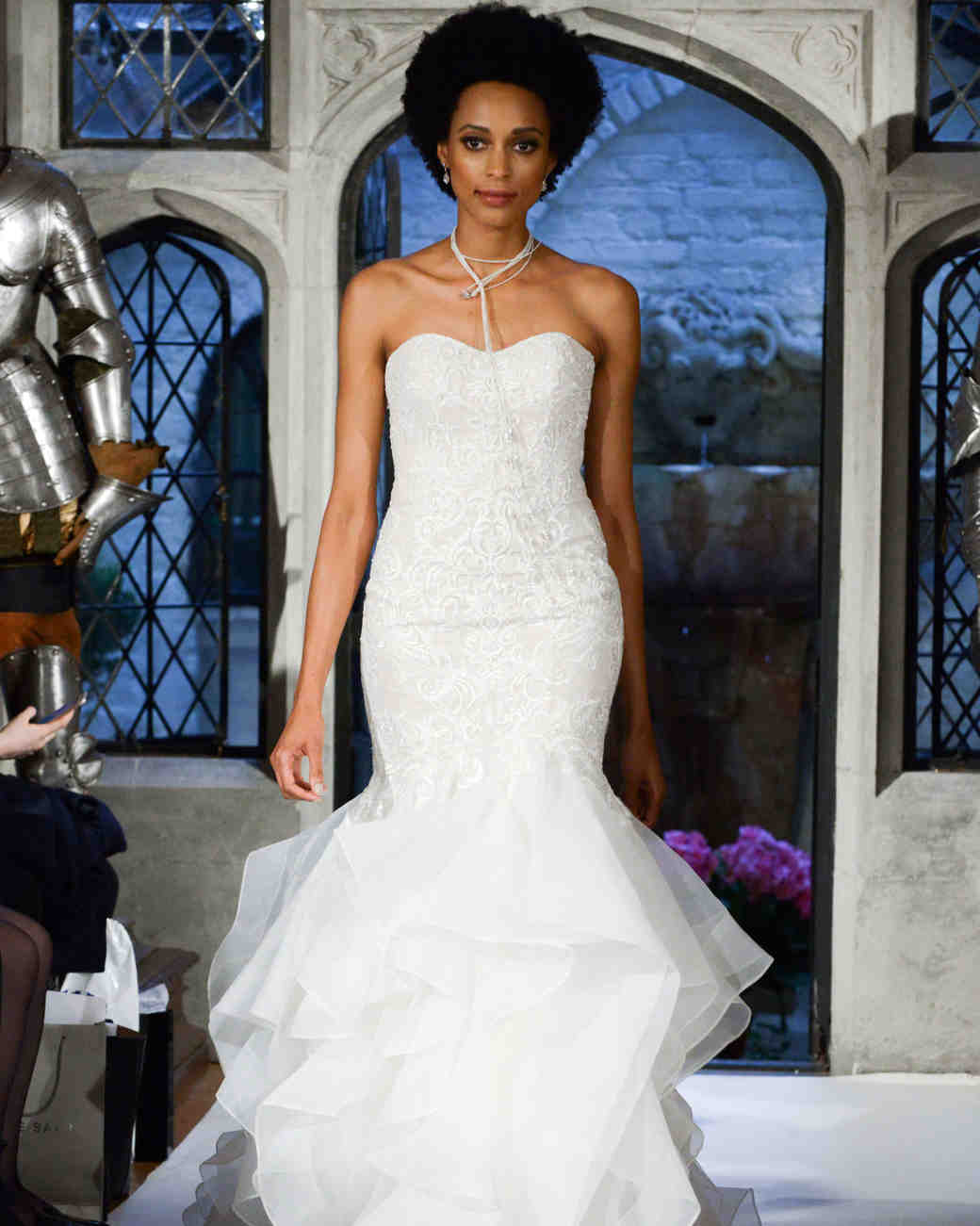 oleg cassini trumpet wedding dress spring 2018