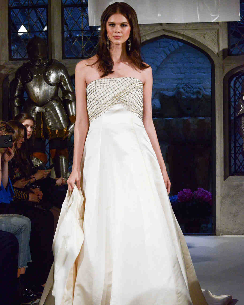 oleg cassini beaded a-line wedding dress spring 2018