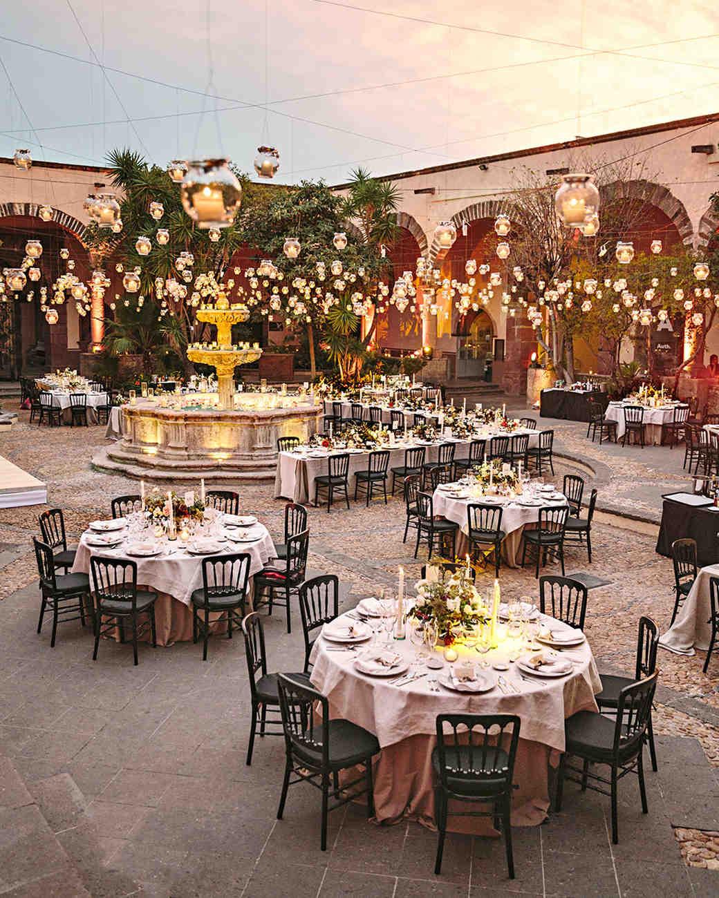 regina chris wedding tablescape votives