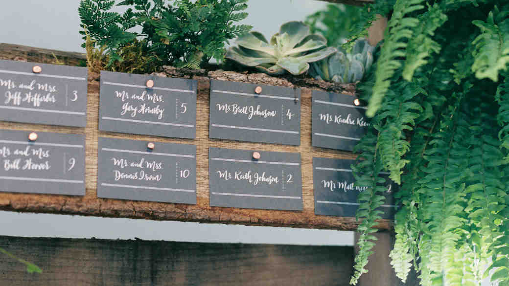 15 Escort Cards Ideas That Won't Fly Away at Your Outdoor Wedding