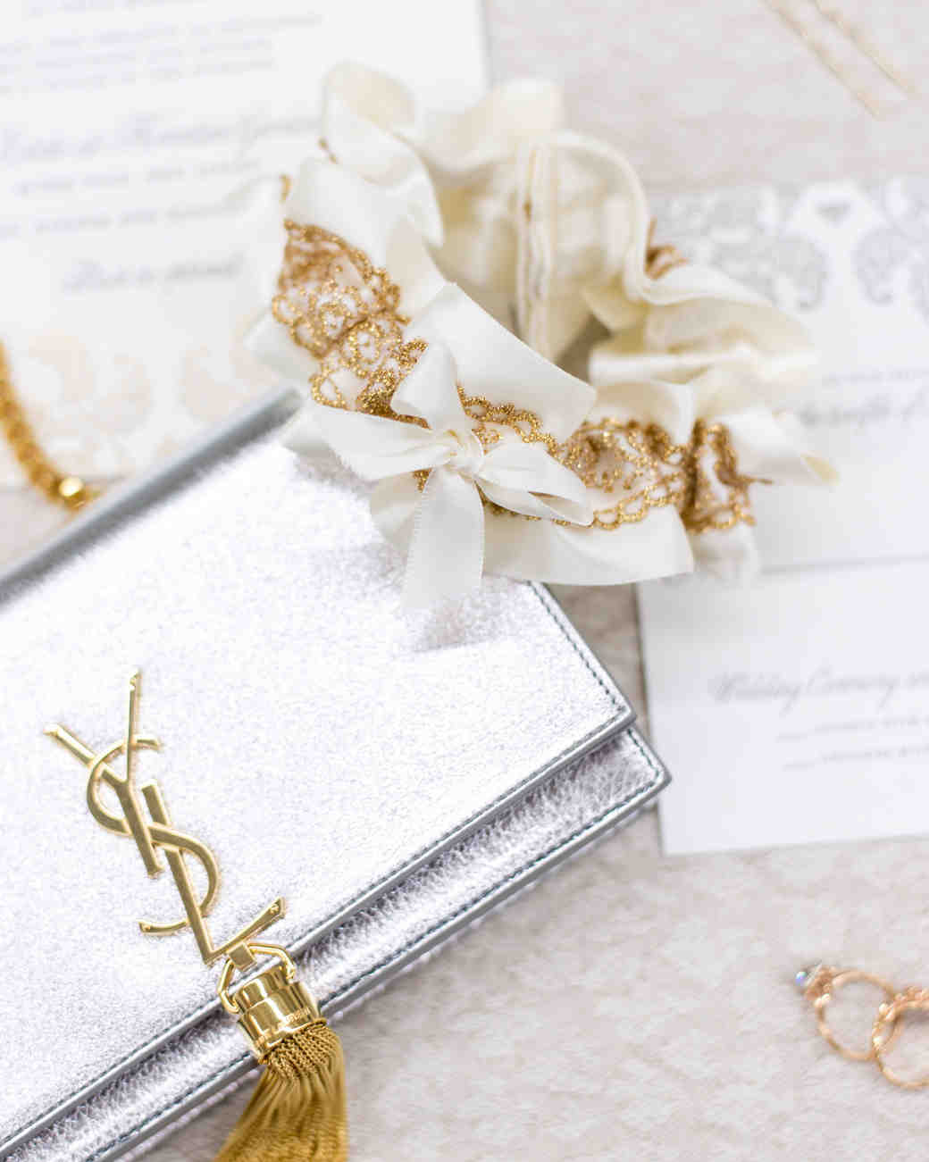 Silver and Gold Bridal Accessories