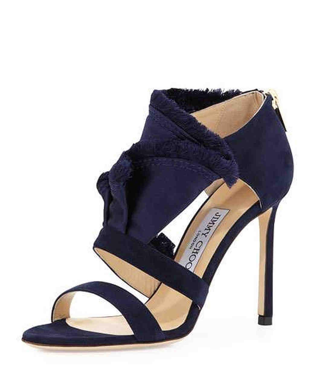 Jimmy Choo Blue Fringe Sandals