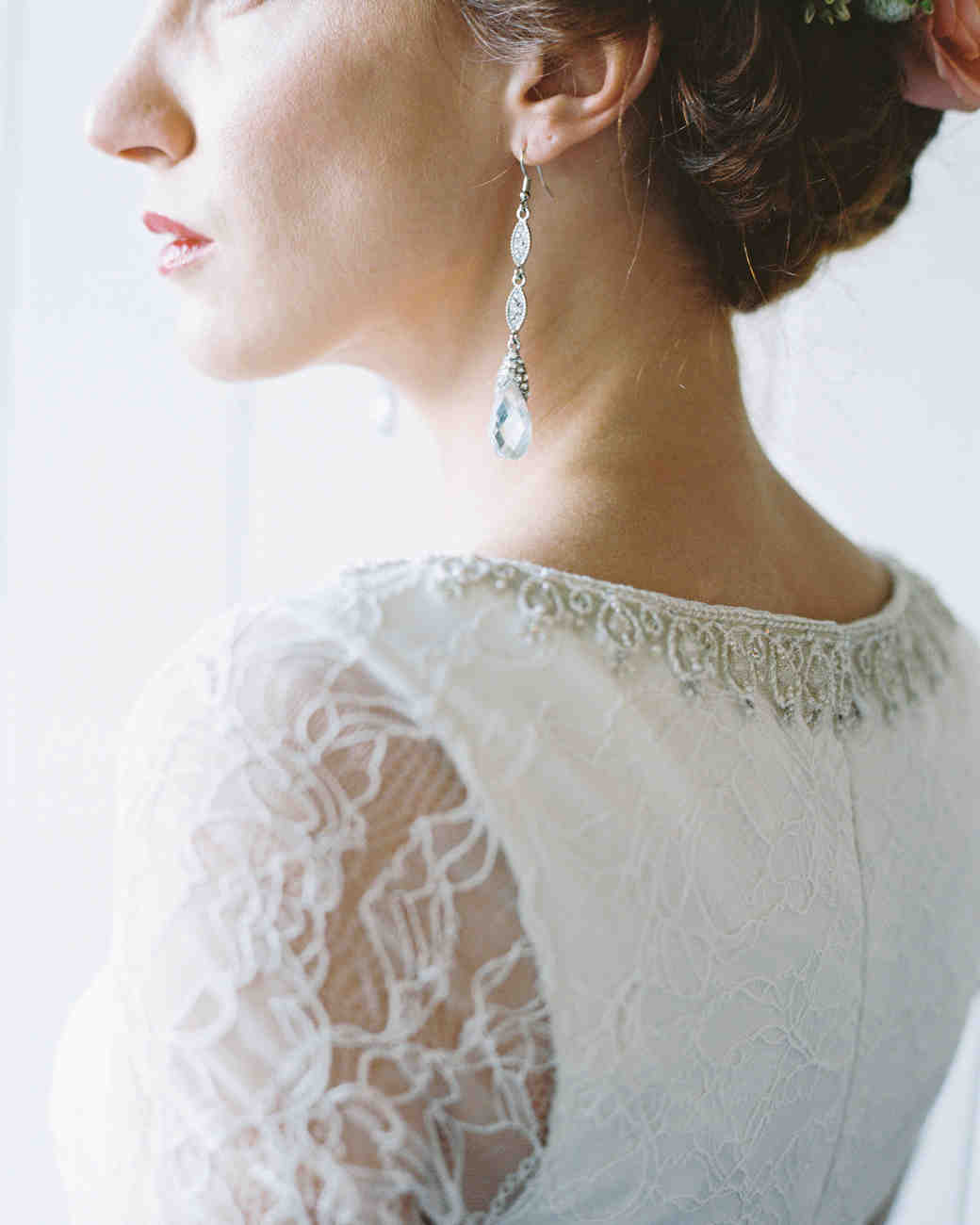 long bridal earrings