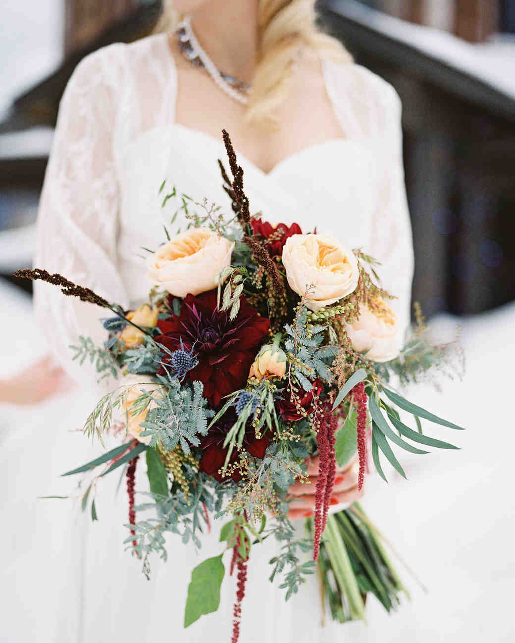 37 absolutely gorgeous winter wedding bouquets martha for Bouquet of flowers for weddings