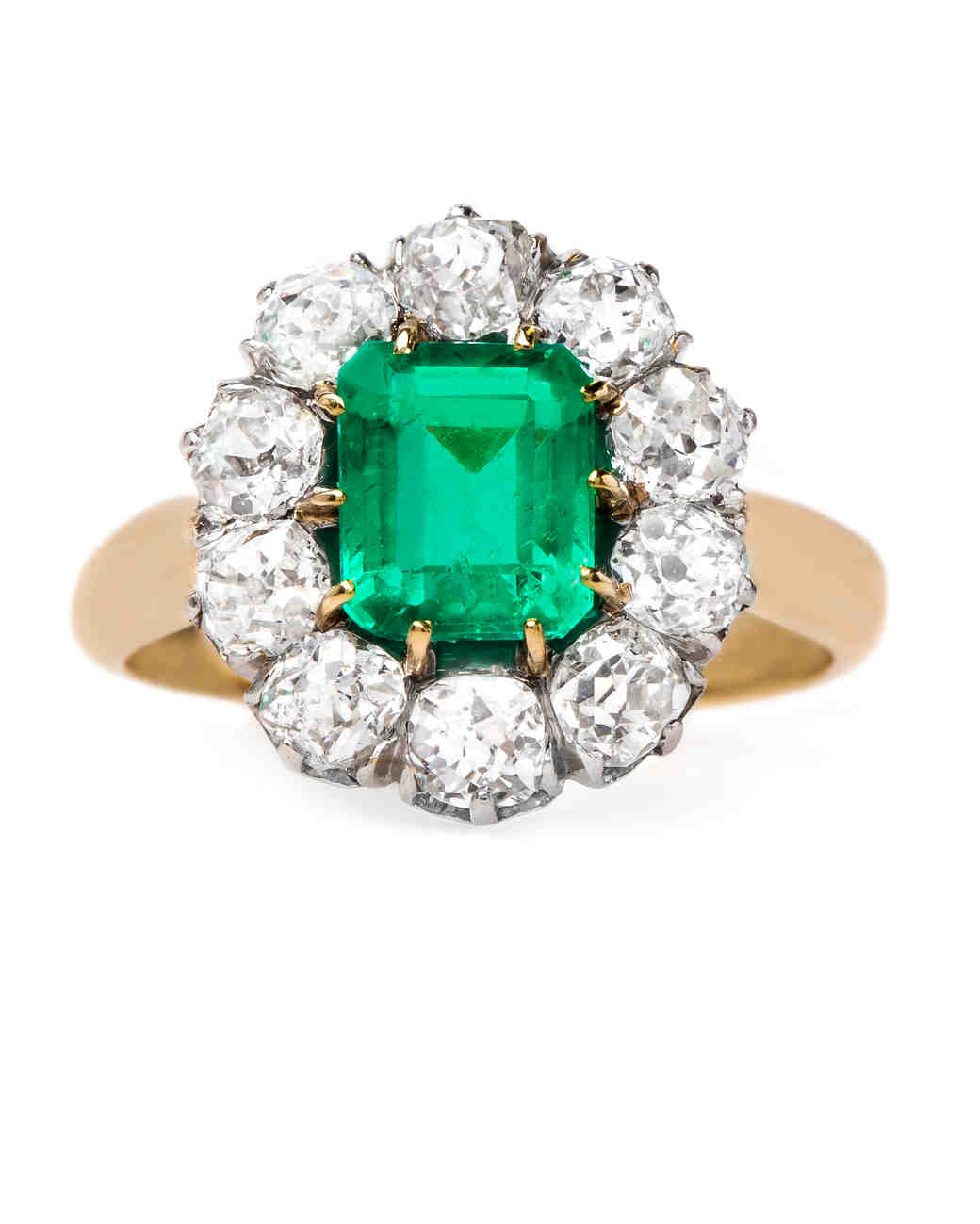 Trumpet & Horn Emerald Engagement Ring