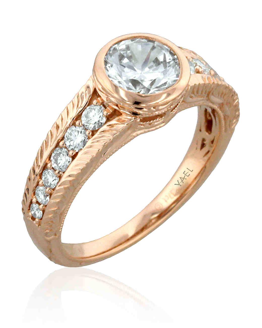 Yael Designs Brilliant-Cut Diamond Engagement Ring in Rose Gold