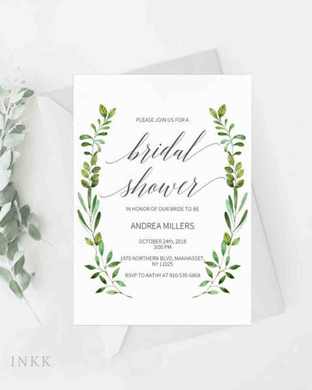 greenery invitations