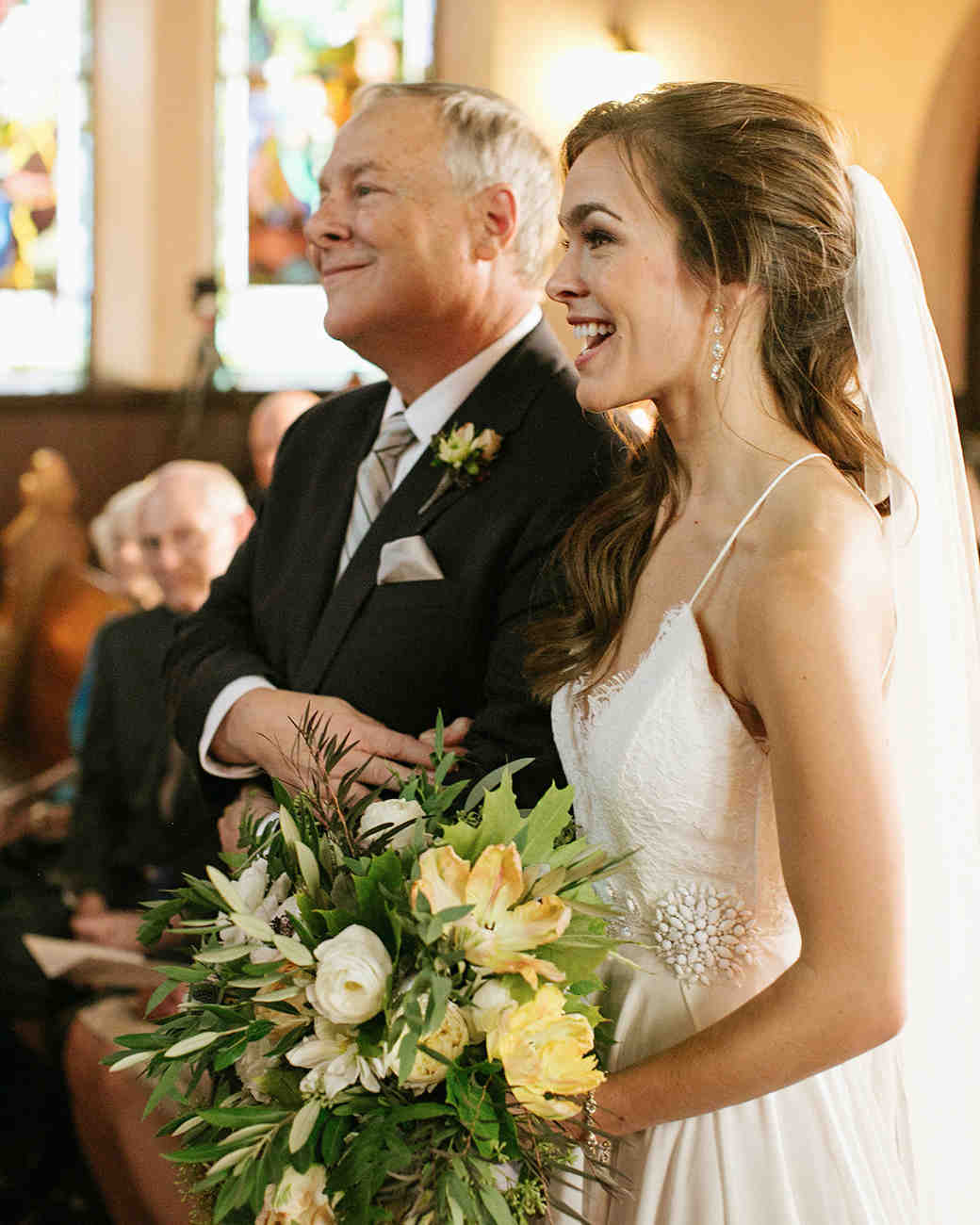 anne and staton wedding bride and father ceremony