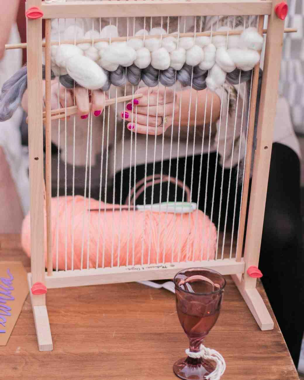 boho chic bachelorette party activity weaving