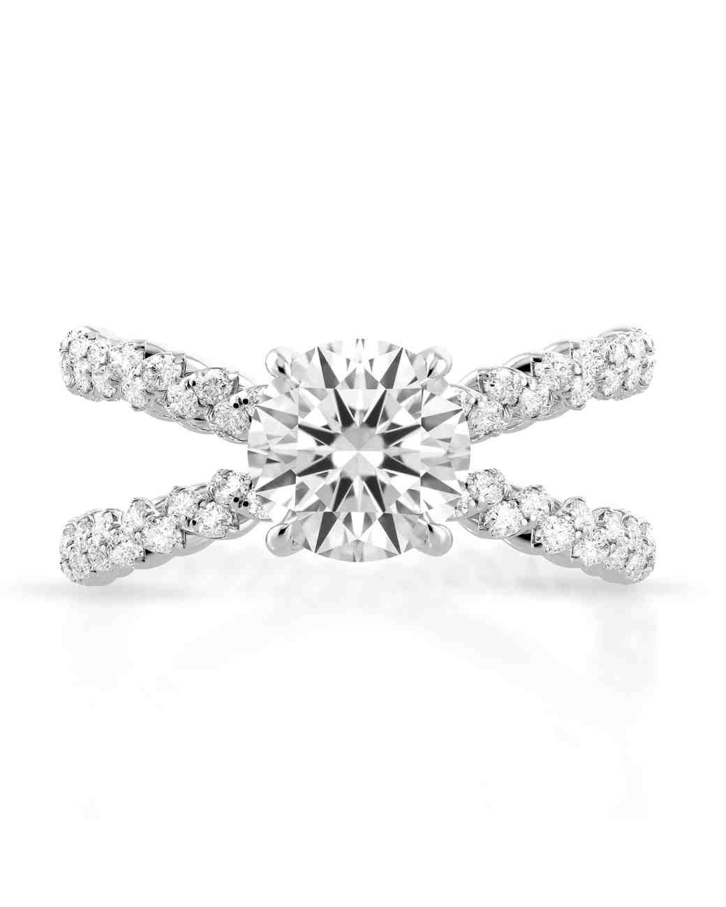 Danhov White Gold Engagement Ring
