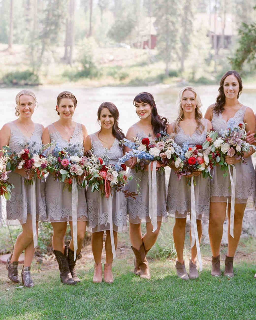 emily patton wedding montana bridesmaids
