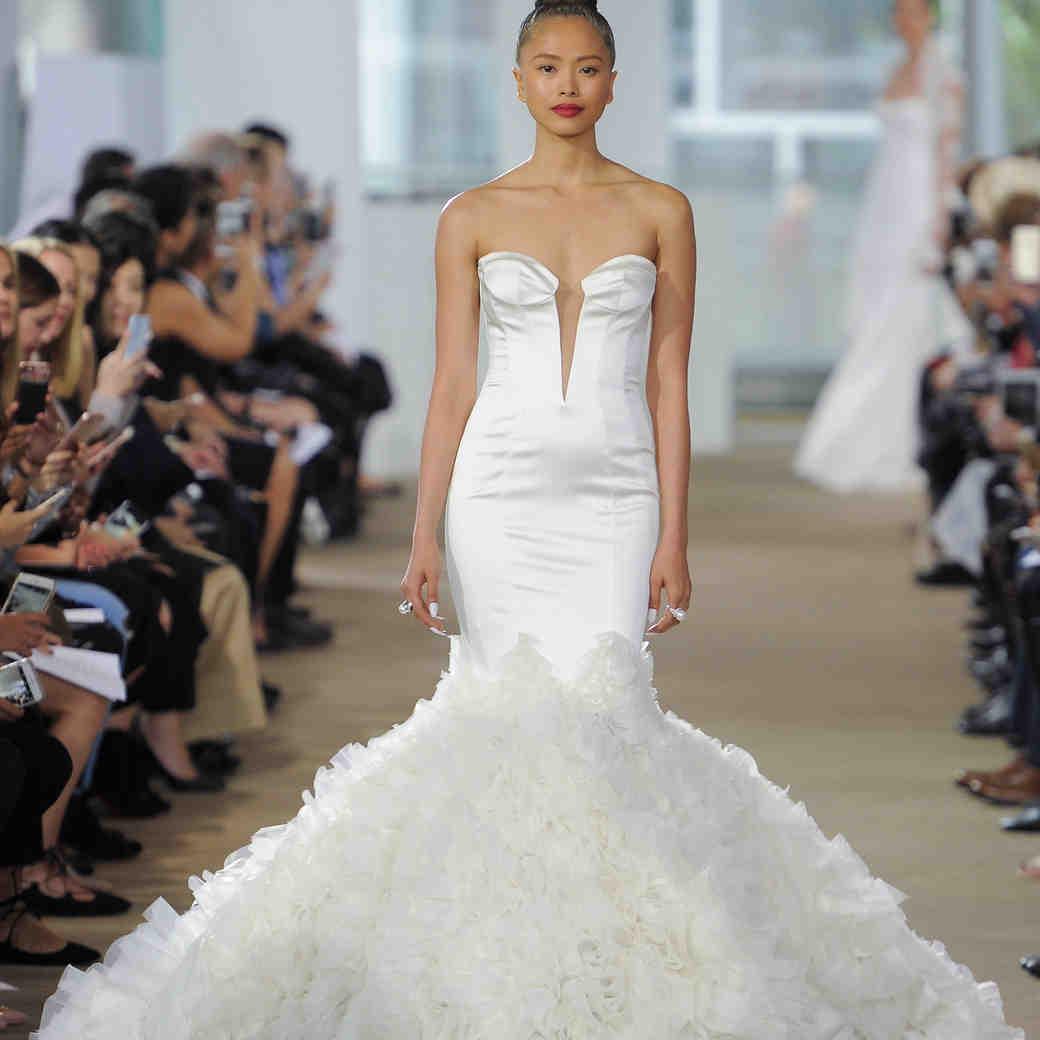 Ines Di Santo Mermaid Wedding Dress with V-Neck Spring 2018