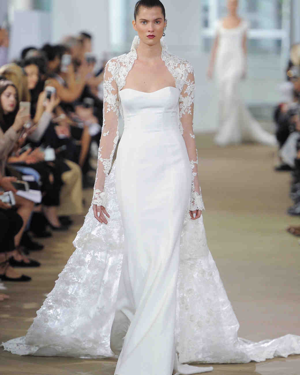 Ines Di Santo Long Sleeve Wedding Dress with Sweetheart Neckline Spring 2018