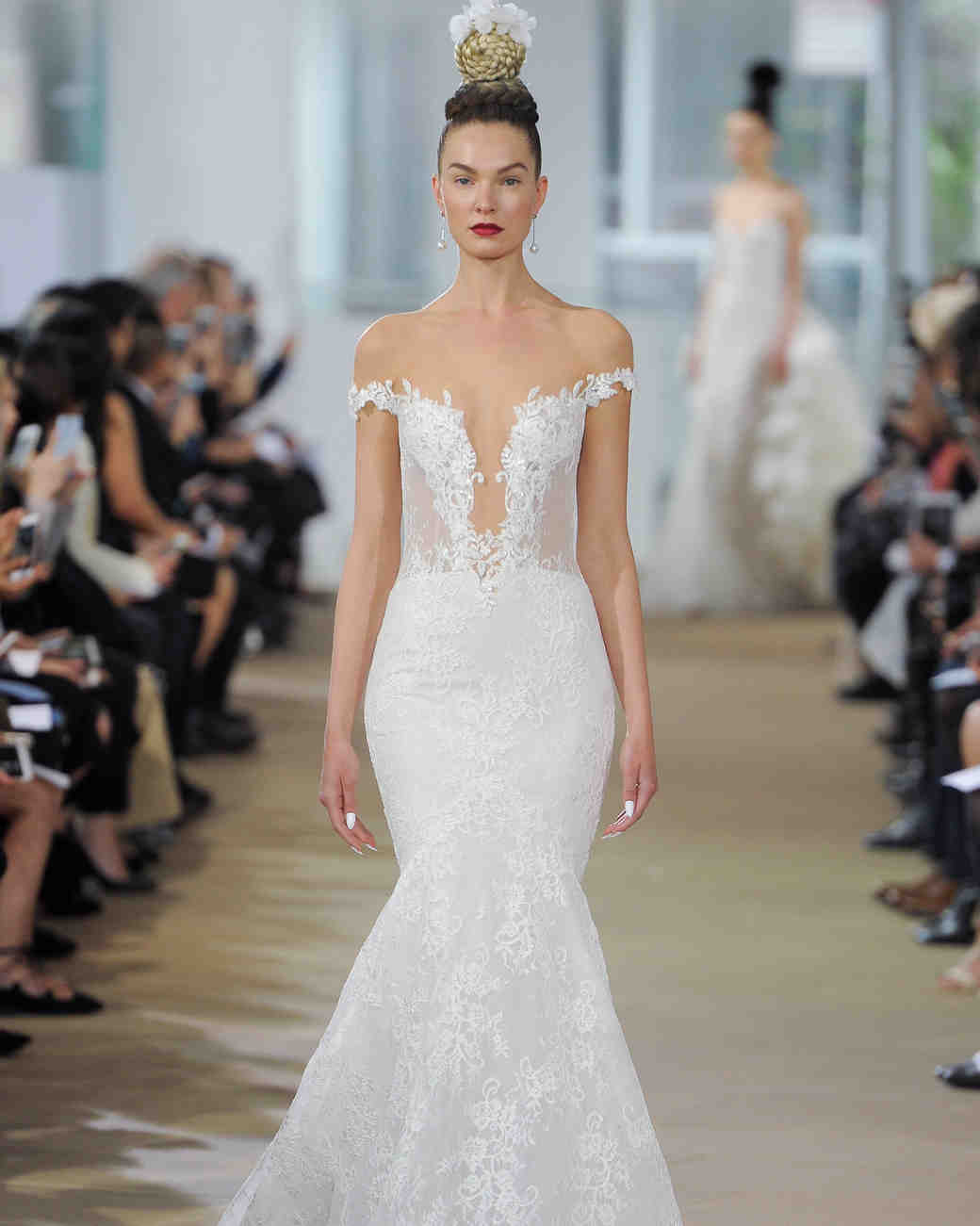 ines di santo mermaid cut wedding dress spring 2018