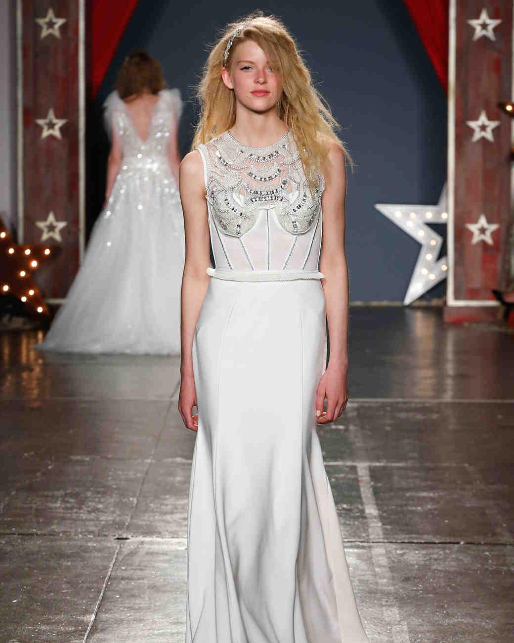 jenny packham wedding dress spring 2018 high-neck embellished bodice