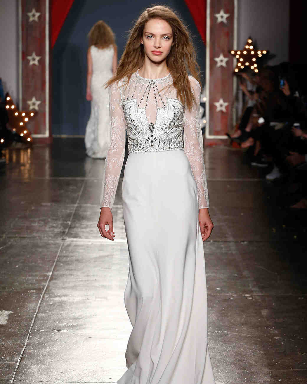 jenny packham wedding dress spring 2018 high neck embellished long sleeves