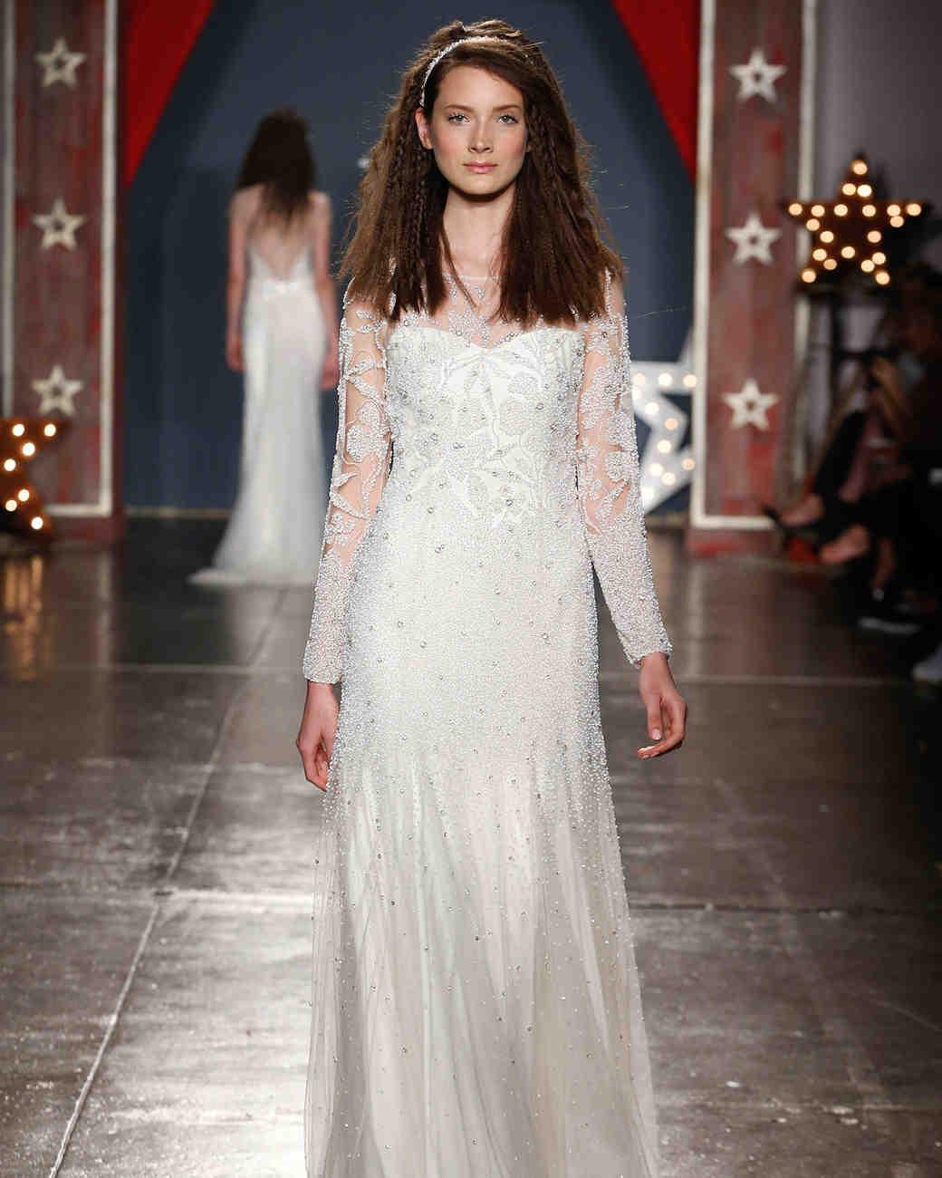 jenny packham wedding dress spring 2018 embellished long sleeves