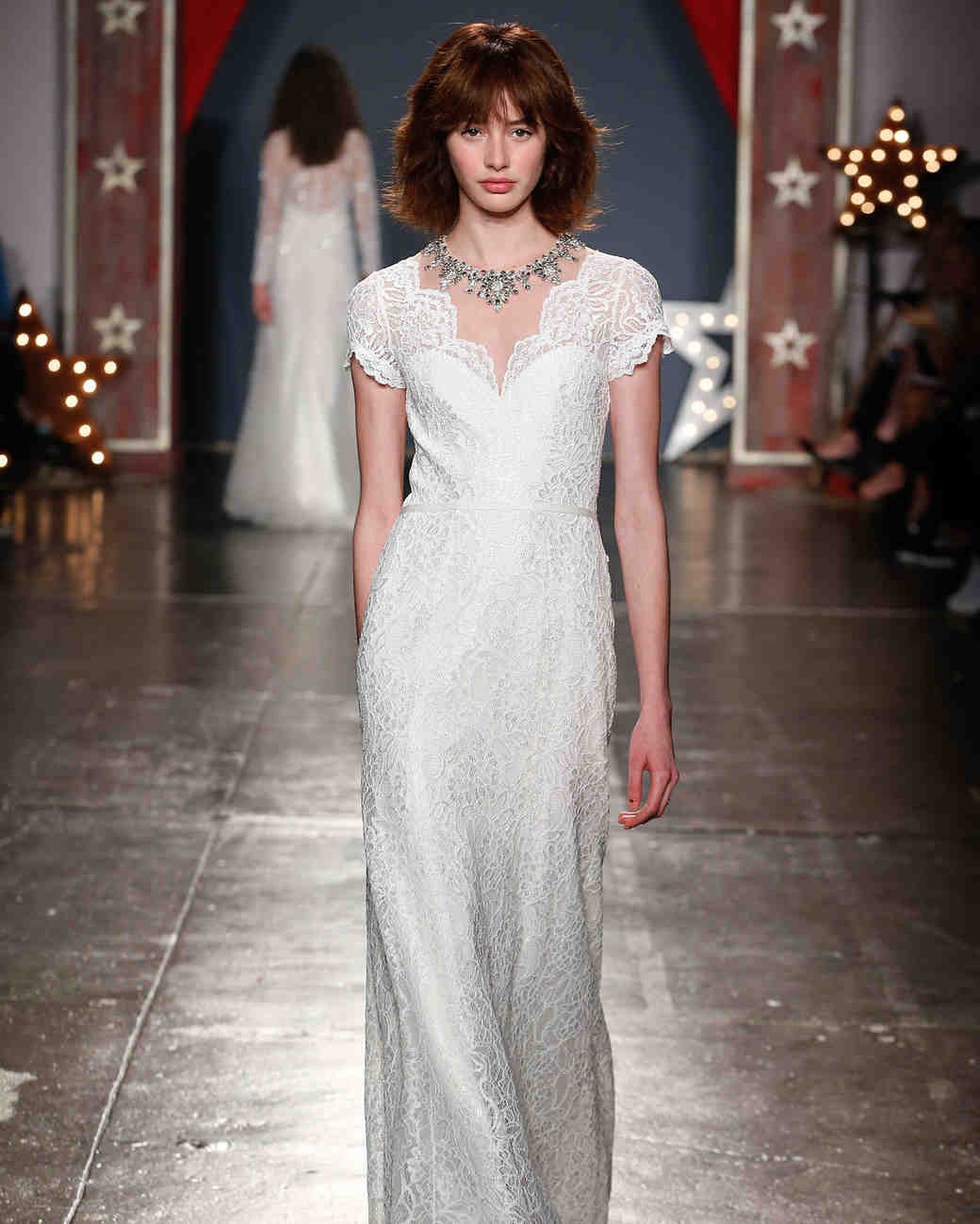 jenny packham wedding dress spring 2018 lace cap sleeves