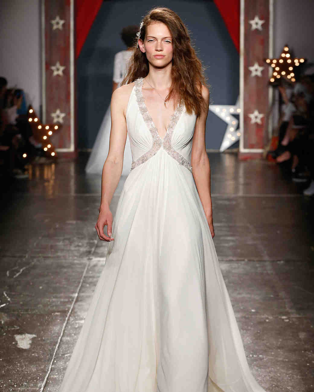jenny packham wedding dress spring 2018 plunging embroidered neck