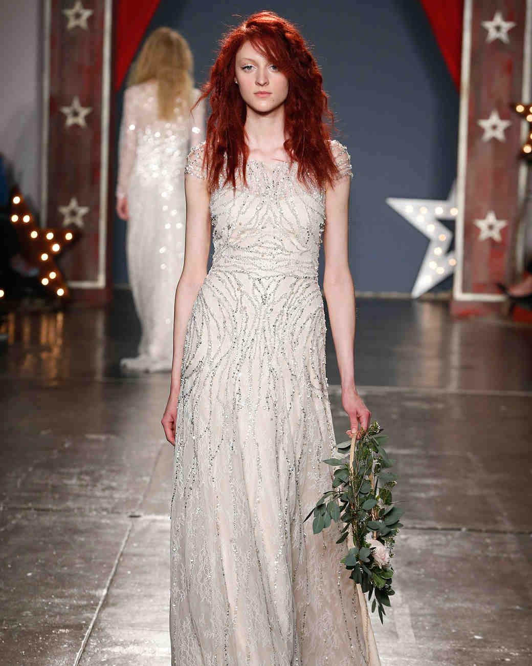 jenny packham wedding dress spring 2018 cap sleeve embellished