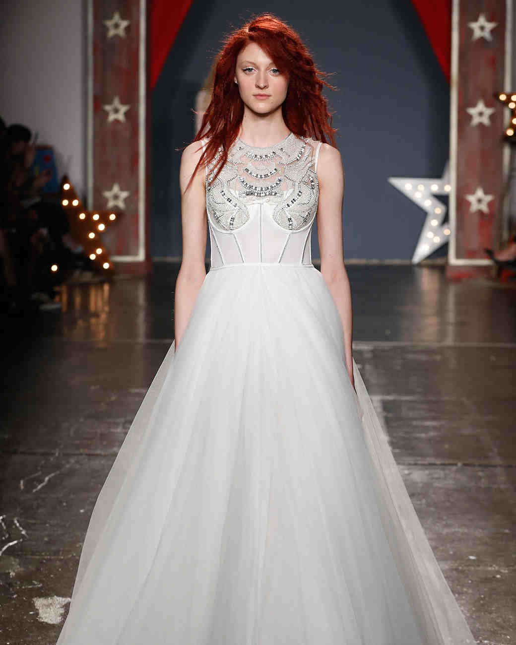jenny packham wedding dress spring 2018 high neck embellished ballgown