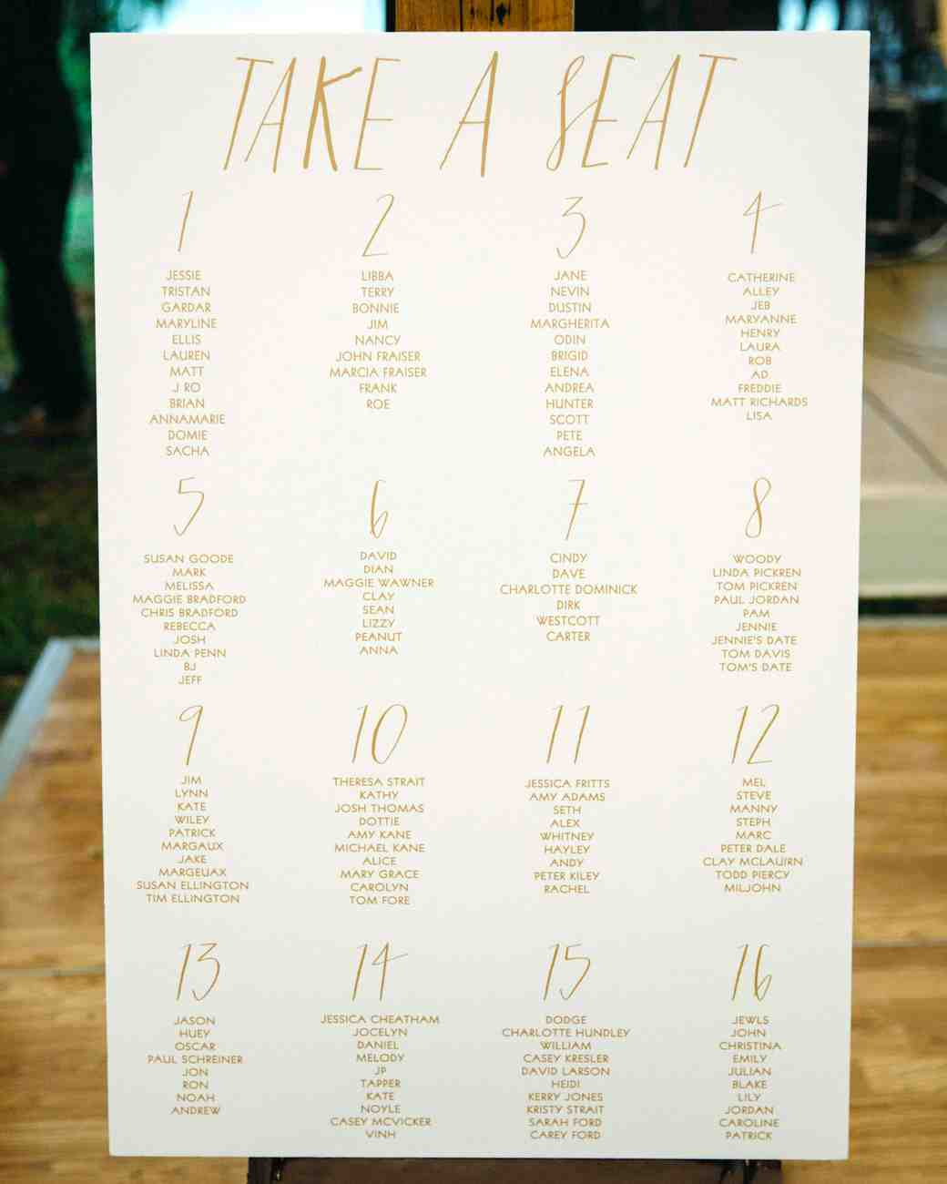 jessie and tristan reception seating chart
