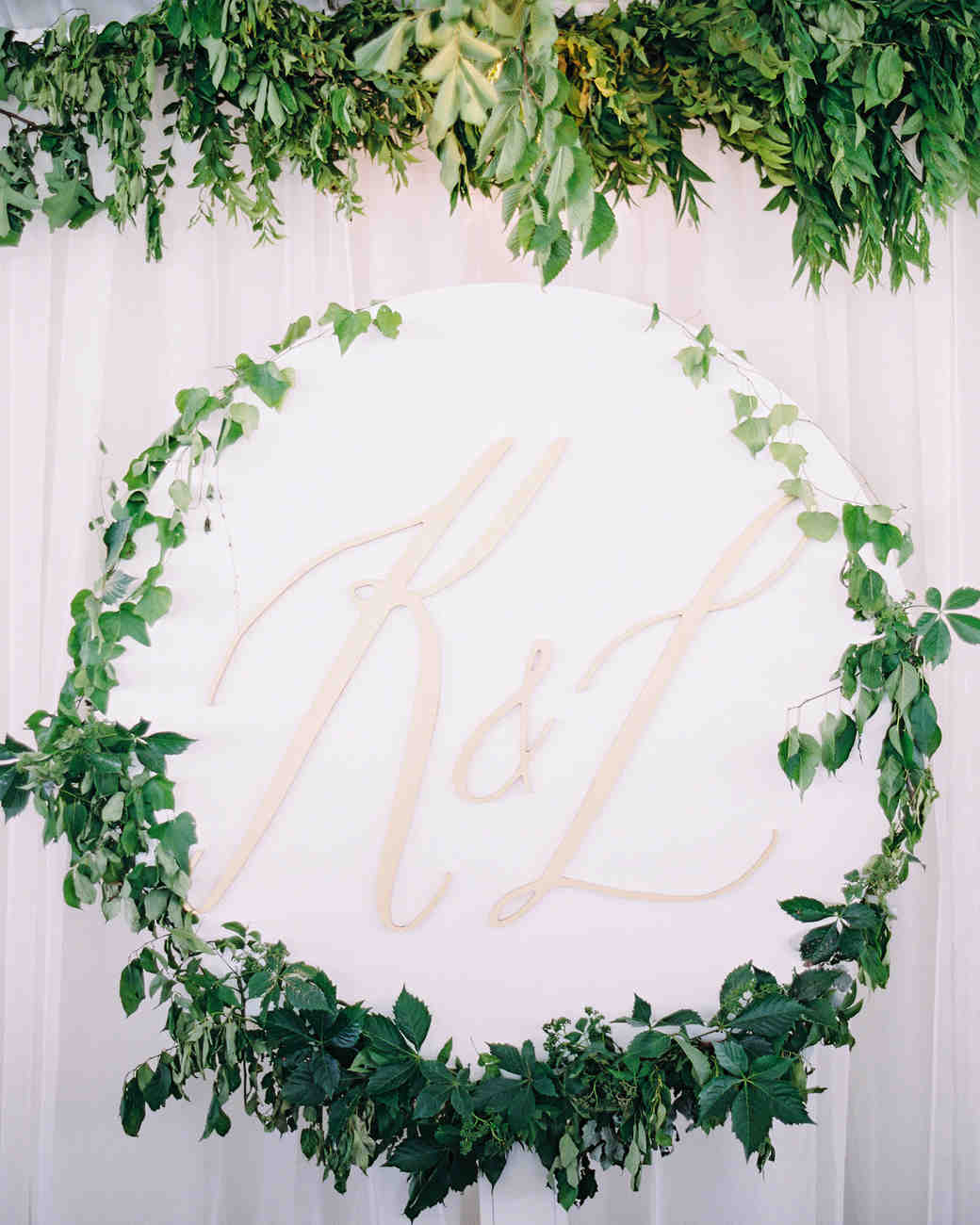 Pink Monogrammed Wedding Sign